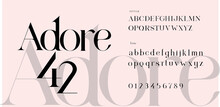 Adore Font Set. Lowercase And ...