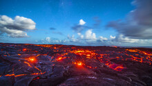 Lava Biome With Blue Sky