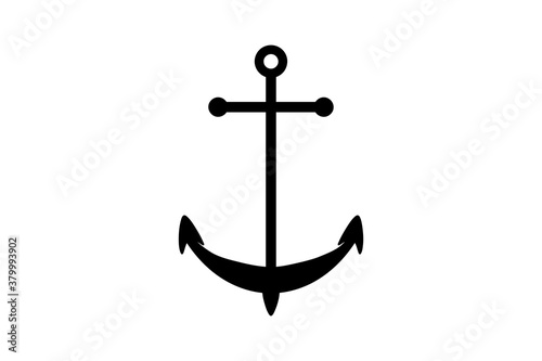 Fotografering Classic ship anchor icon in vector