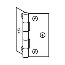 Door Hinge Or Fasteners In Vector Style