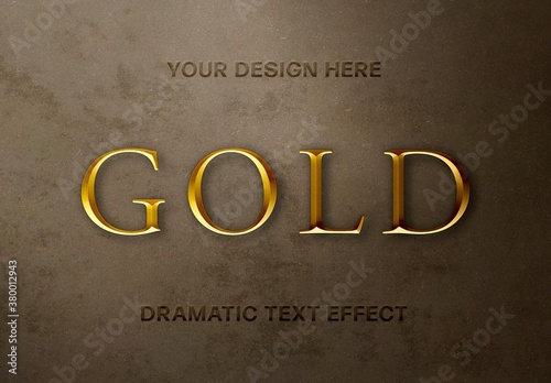 Regal Gold Text Effect Mockup