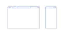 Browser Template Outline With ...
