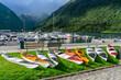 canvas print picture - Aktiv-Urlaub in Norwegen: Bootsverleih (Kanus und Kjaks) in Balestrand am Fjord