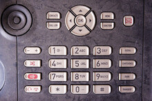 Close-up Of Keypad Of An Old, ...