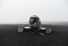 Crashed Navy Douglas Super DC-3 Plane In Vik, Iceland