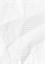 White Crumpled Paper With Line...