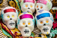 Decorated Sugar Skulls For Day Of The Dead Celebration