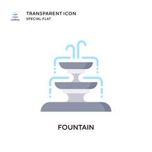 Fountain Vector Icon. Flat Style Illustration. EPS 10 Vector.