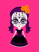 Cute Mexican Catrina Doll With...