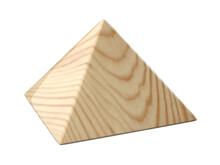Wooden Glosy Pyramid.