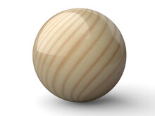 Wooden Glosy Sphere Or Ball.