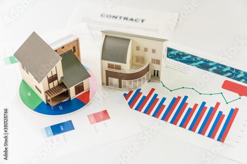 Obraz 住宅と統計 建築 設計 - fototapety do salonu