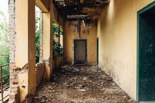 An Abandoned School Hall In Ro...