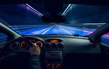 Car Cockpit At Night