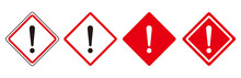 Warning Sign Icon Set Vector