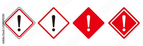 Fotografija warning sign icon set vector