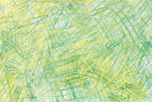 Green And Yellow  Pastel Crayon Drawing Background Texture