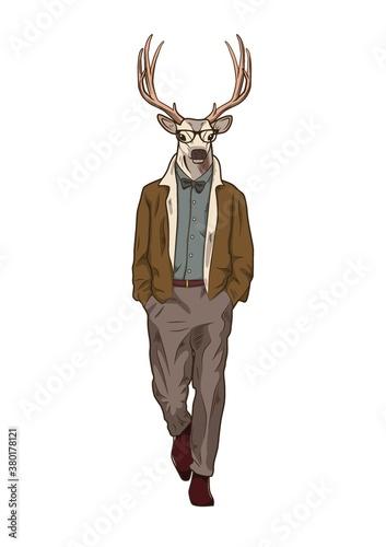 Photo Reindeer character