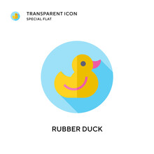 Rubber Duck Vector Icon. Flat ...