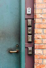 Multiple Locks And Keypads At Door Entrance