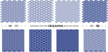 Japanese Pattern SEIGAIHA Blue...