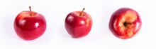Fresh Organic Apples Set. Isol...