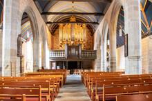 Sizun. Chœur Et Orgue De L'église Saint-Suliau, Finistère, Bretagne