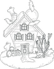 Spooky Halloween House With Gh...