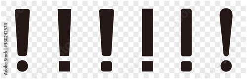 Fotografie, Obraz set of warning sign icon vector