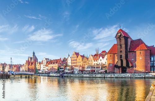 Gdańsk Crane and Motlawa river Canvas Print