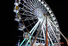 Attraction Ferris Wheel In The...