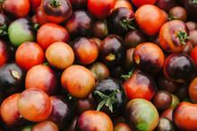 An Abundance Of Fresh Heirloom Tomatoes