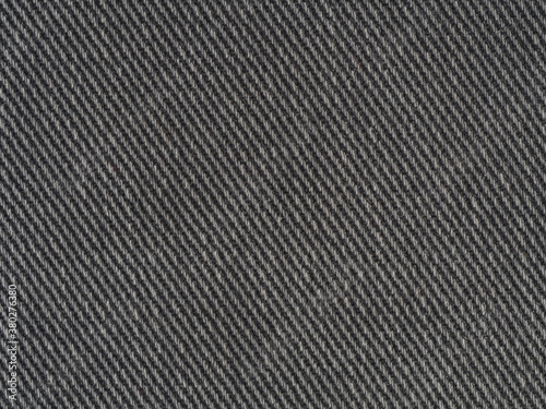 Black denim jeans fabric closeup texture background pattern Canvas Print