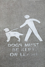 Dogs Must Be Kept On Leash Sigh