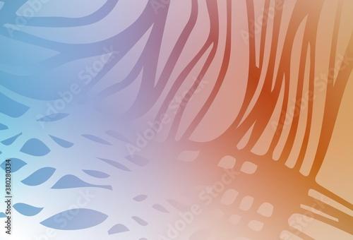Fotografía Light Blue, Yellow vector colorful blur background.