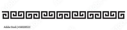 Fotomural greek pattern border design