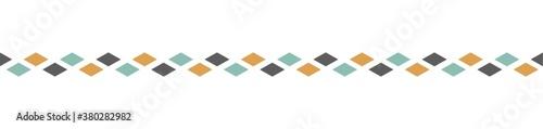 Cuadros en Lienzo rhombus pattern border design
