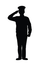 WWII Soldier Silhouette Vector