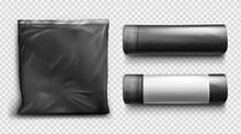 Black Plastic Bag For Trash An...