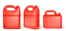 Red Plastic Canister For Liqui...