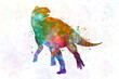 Edmontosaurus Dinosaur in watercolor