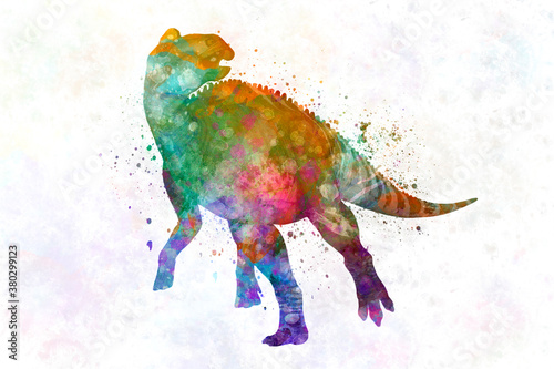 Fototapeta  Edmontosaurus Dinosaur in watercolor obraz