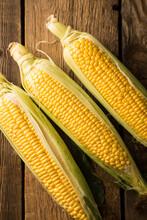 Fresh Ripe Corn Close Up