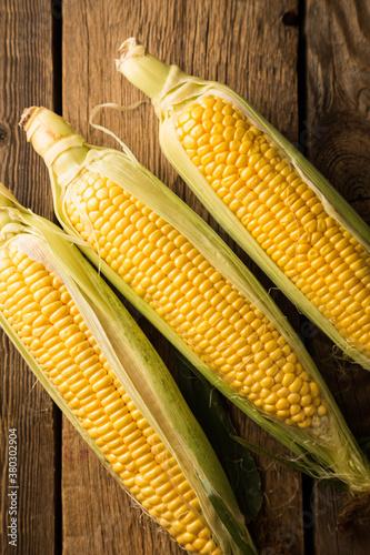 Carta da parati Fresh ripe corn close up