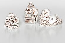 Small White Gypsum Figurines N...