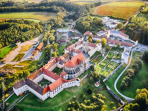 Fotografiet Stift Zwettl monastery in the Waldviertel region, Lower Austria.