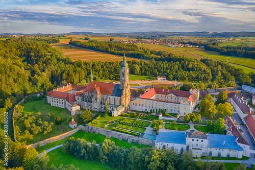 Stift Zwettl monastery in the Waldviertel region, Lower Austria. Fototapet