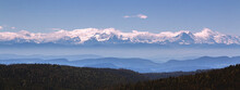 A Mountain Range With The Nort...