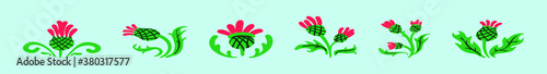 Fotografering set of thistles cartoon icon design template with various models