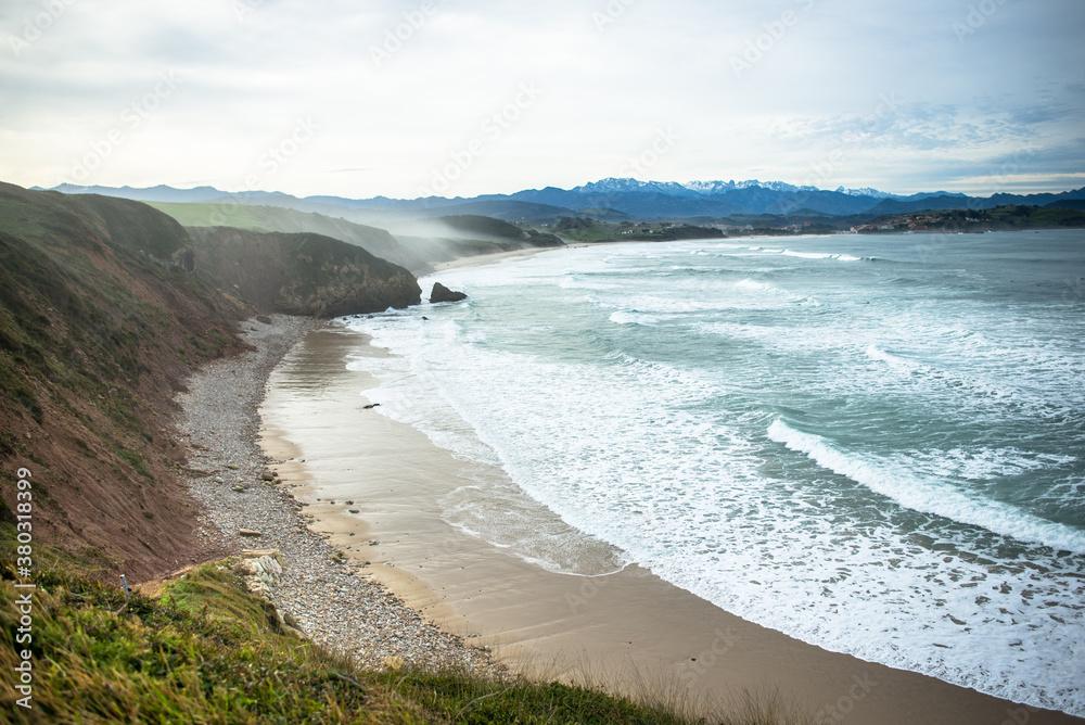 Fototapeta asturias playa de las guerras